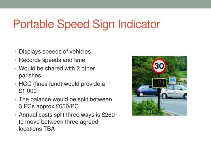 Portable Speed Sign Indicator