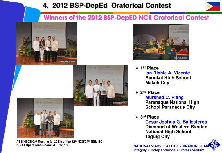 4.  2012 BSP-
