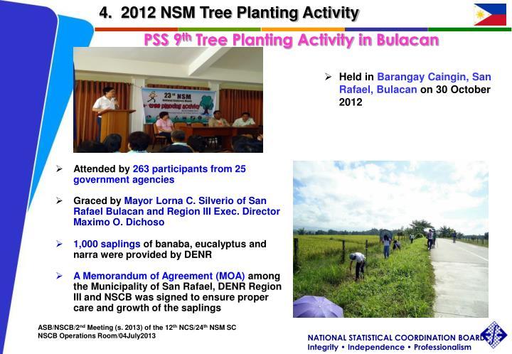 4.  2012 NSM Tree Planting Activity