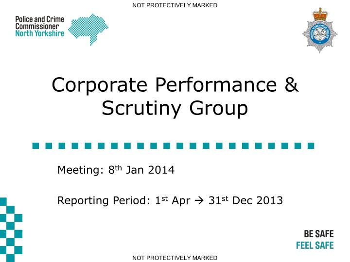 Corporate performance scrutiny group