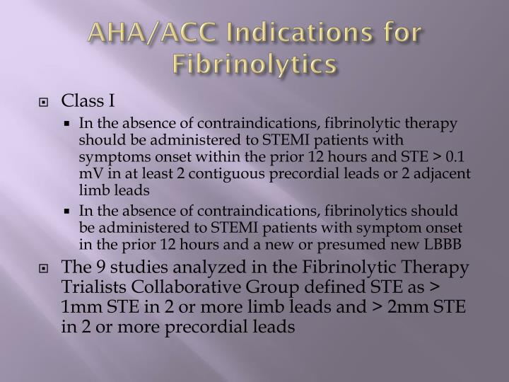 AHA/ACC Indications for