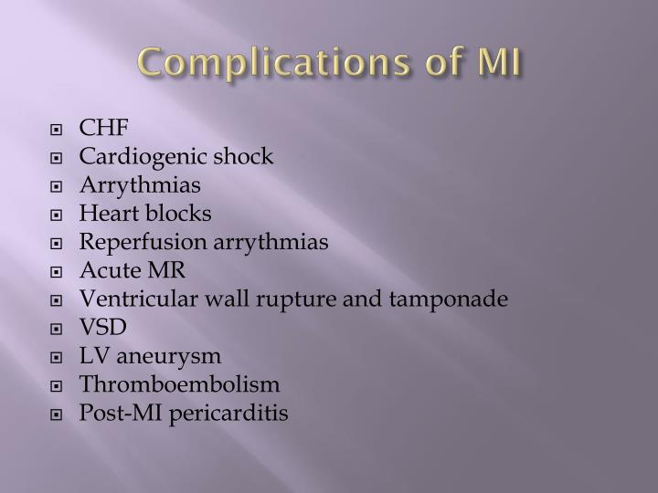Complications of MI