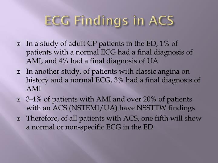 ECG Findings in ACS