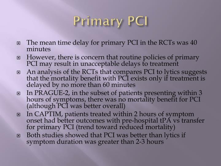 Primary PCI