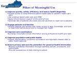 pillars of meaningful use