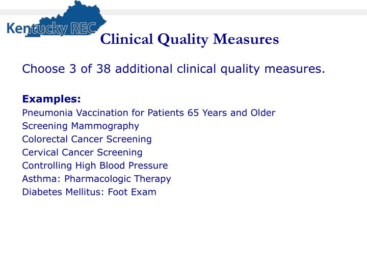 Clinical Quality Measures