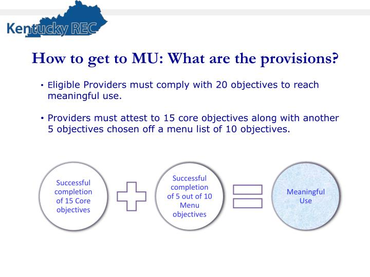 How to get to MU: What are the provisions?