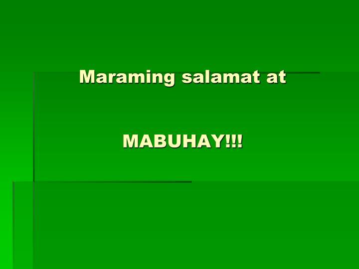 Maraming salamat at