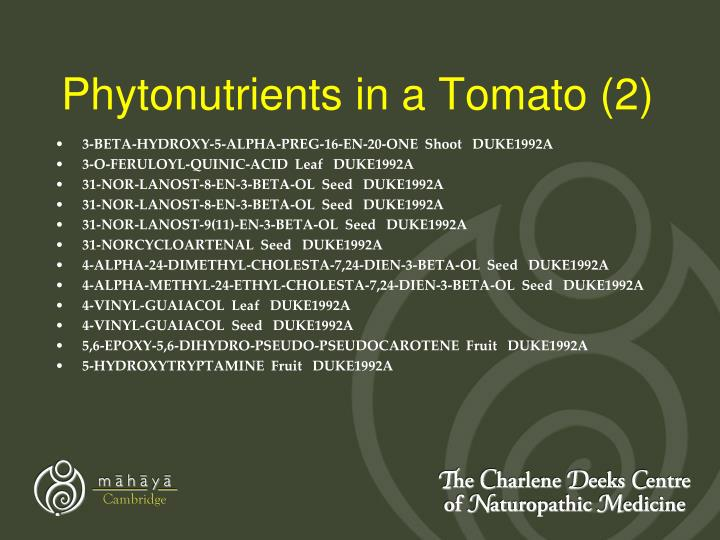 Phytonutrients in a Tomato (2)