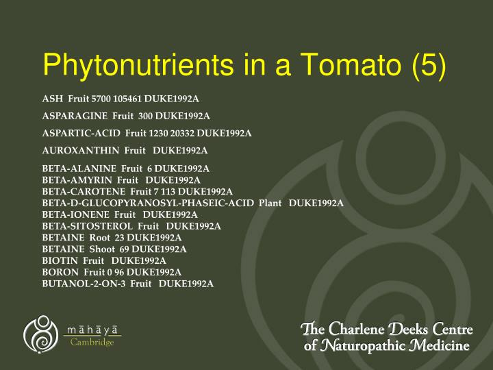 Phytonutrients in a Tomato (5)