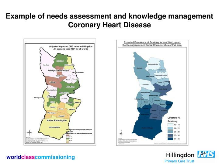 Example of needs assessment and knowledge management