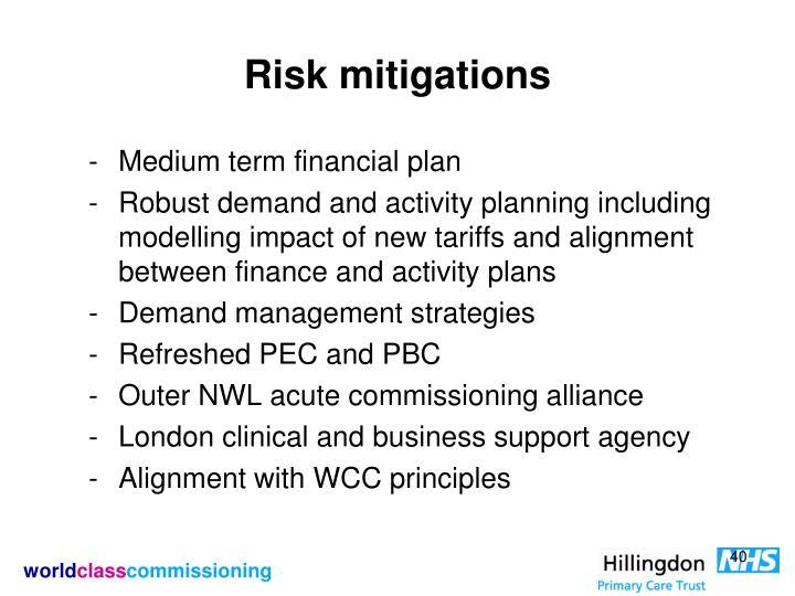 Risk mitigations
