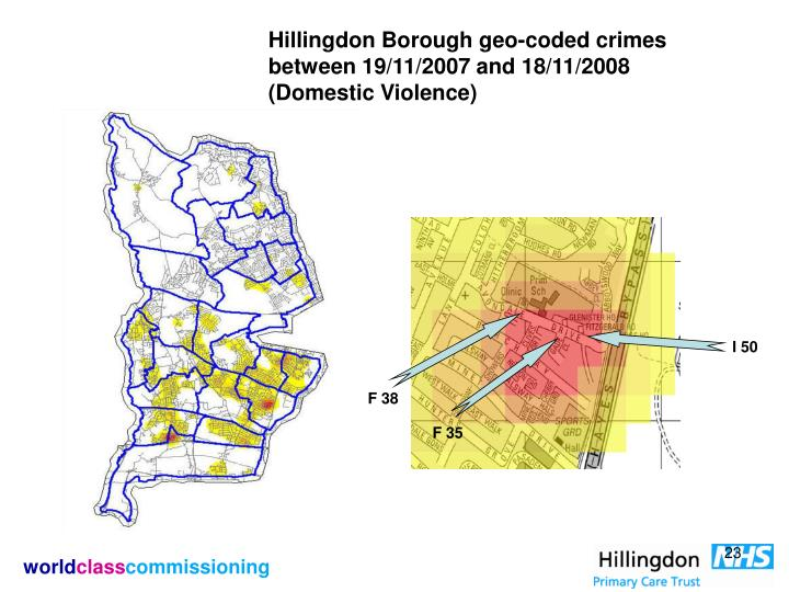 Hillingdon Borough geo-coded crimes between 19/11/2007 and 18/11/2008 (Domestic Violence)