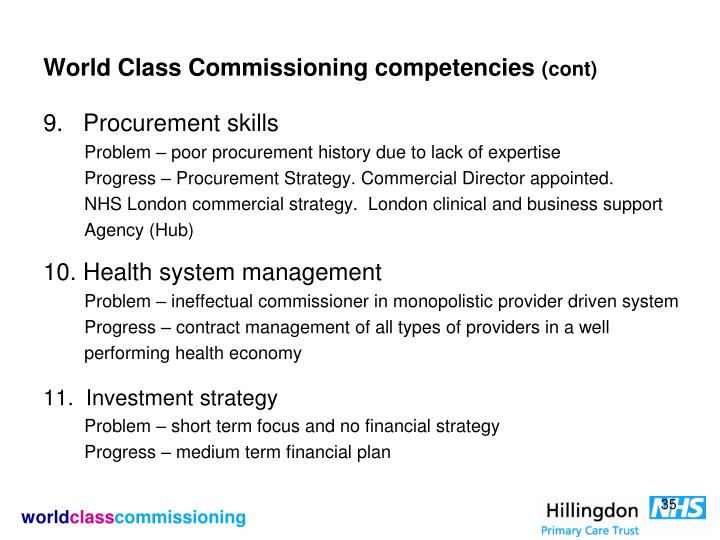 World Class Commissioning competencies