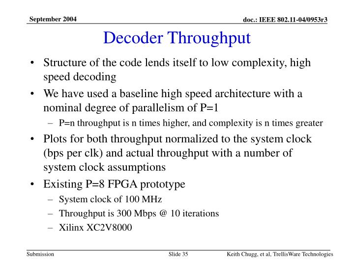 Decoder Throughput