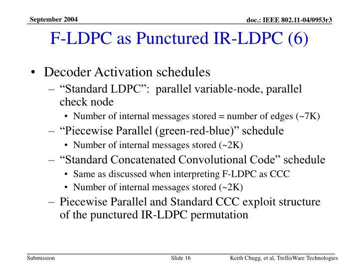 F-LDPC as Punctured IR-LDPC (6)