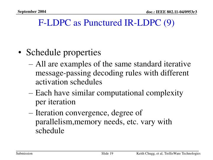 F-LDPC as Punctured IR-LDPC (9)
