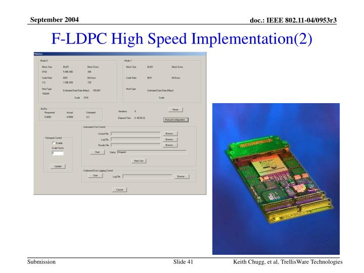 F-LDPC High Speed Implementation(2)