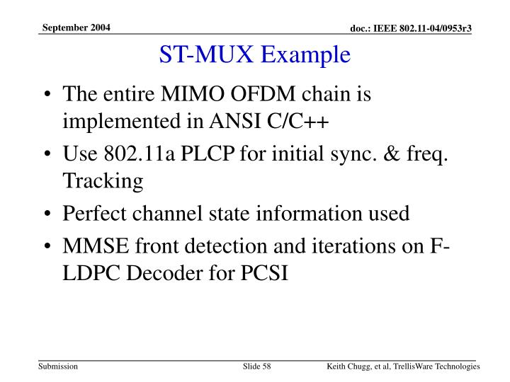 ST-MUX Example