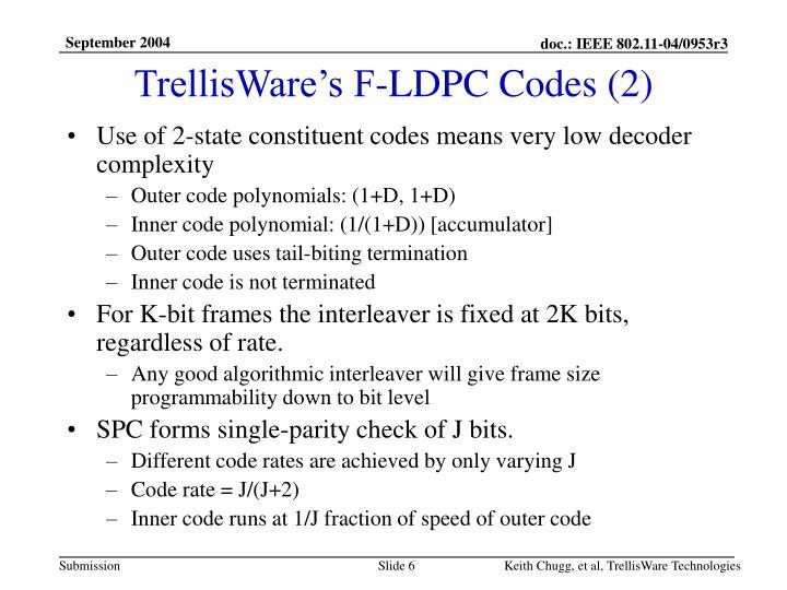 TrellisWare's F-LDPC Codes (2)