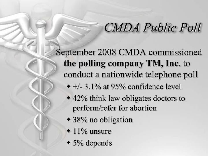 CMDA Public Poll