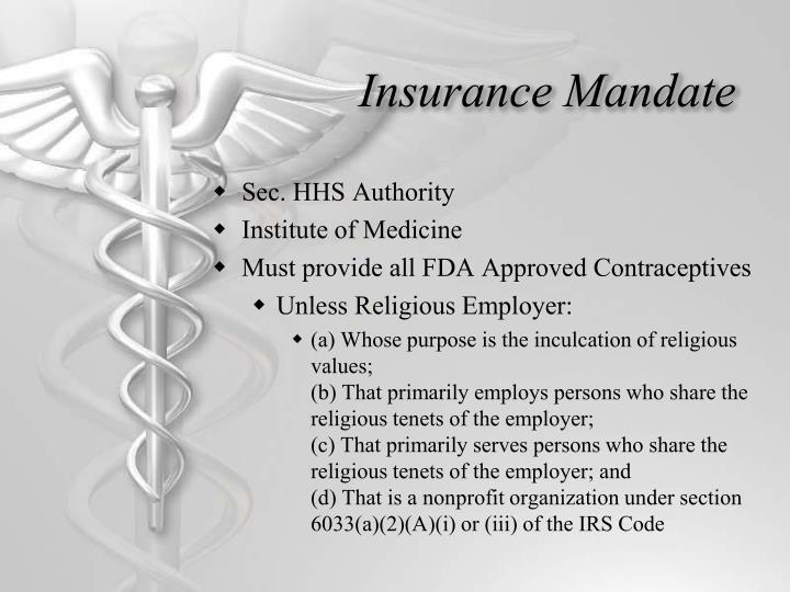 Insurance Mandate