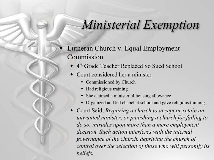 Ministerial Exemption