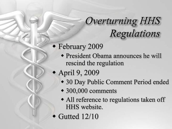 Overturning HHS Regulations