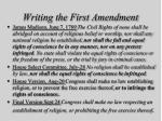writing the first amendment