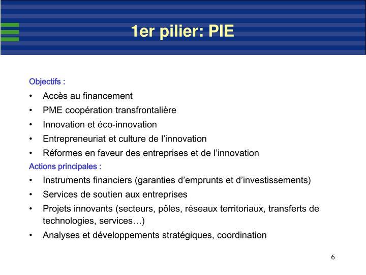 1er pilier: PIE