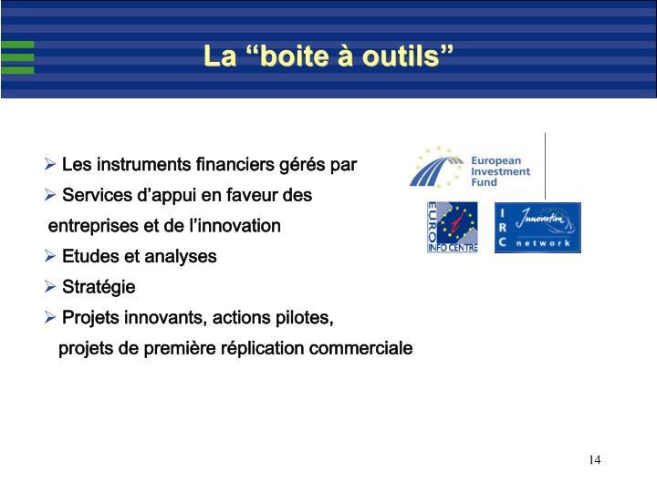 """La """"boite à outils"""""""