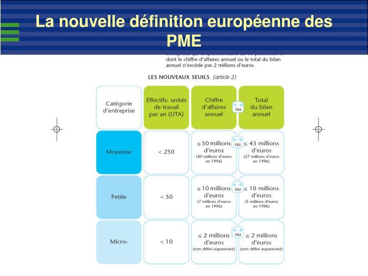 La nouvelle définition européenne des PME