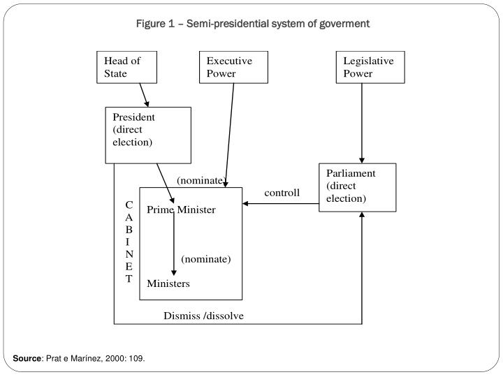 Figure 1 – Semi-presidential system of goverment