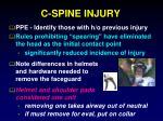 c spine injury