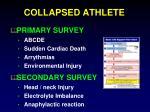 collapsed athlete