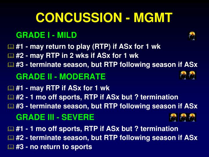 CONCUSSION - MGMT