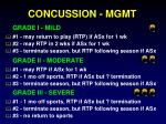 concussion mgmt