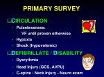 primary survey1