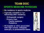 team doc