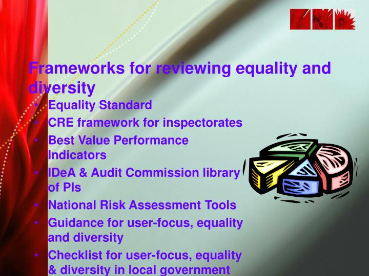 Frameworks for reviewing equality and diversity