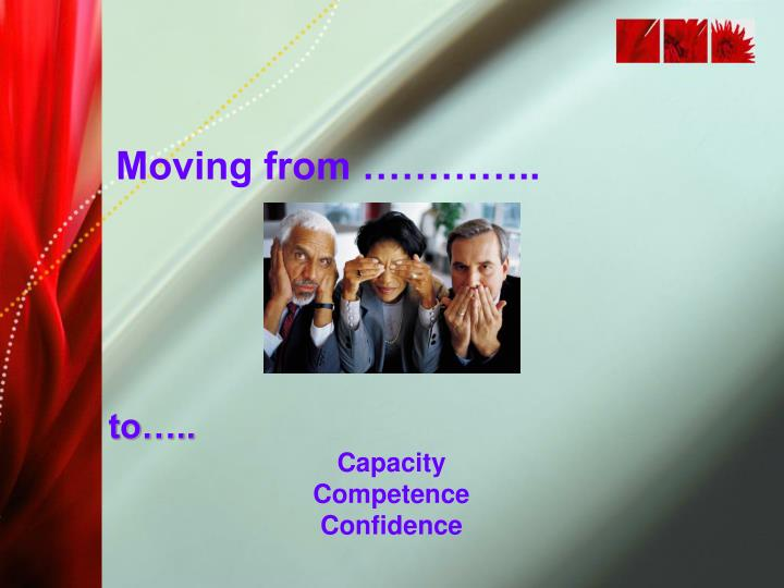 Moving from …………..