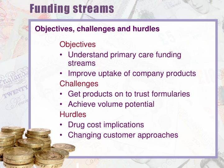 Objectives, challenges and hurdles