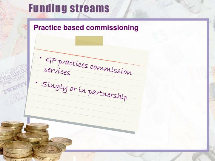 GP practices commission services