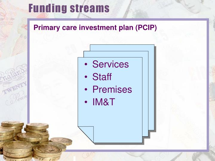 Primary care investment plan (PCIP)