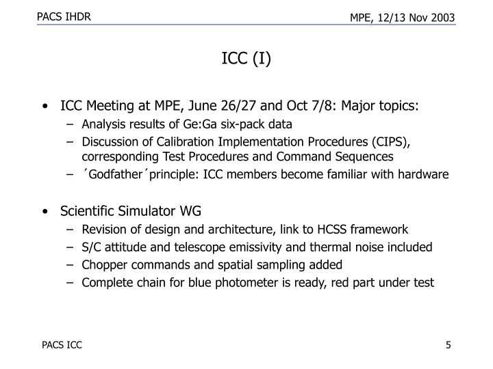 ICC (I)