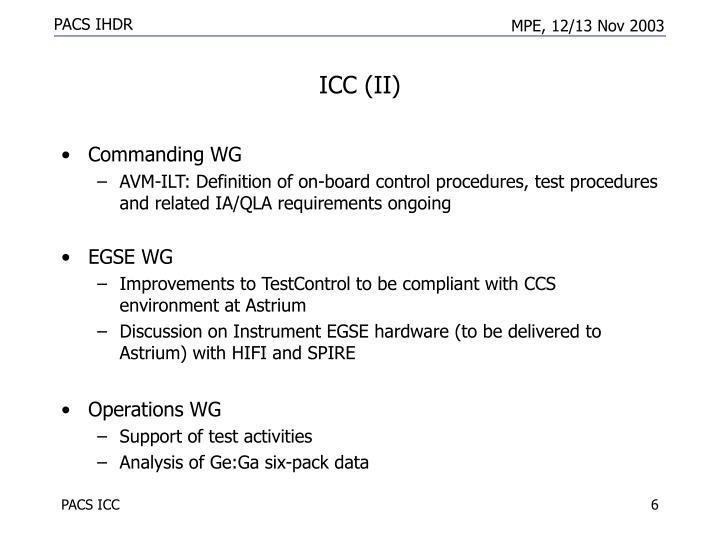 ICC (II)