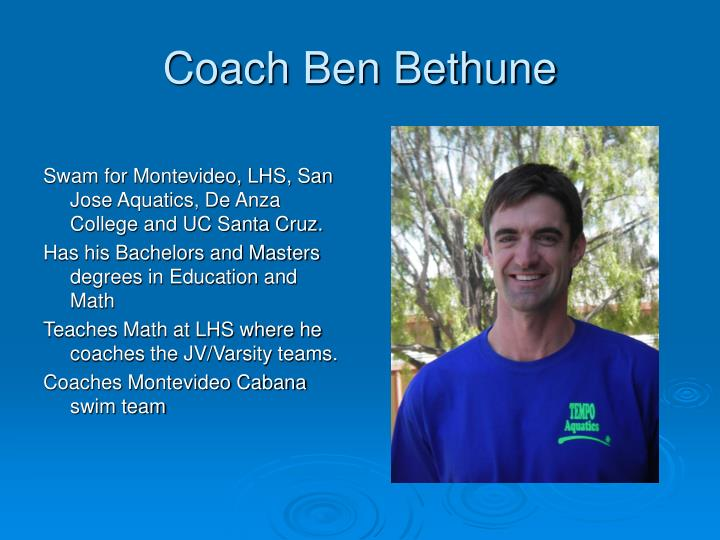Coach Ben Bethune