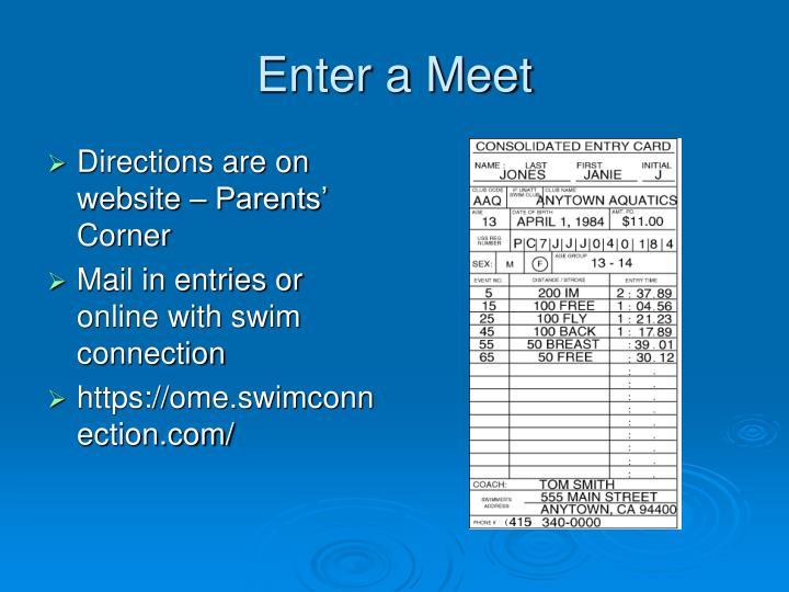 Enter a Meet