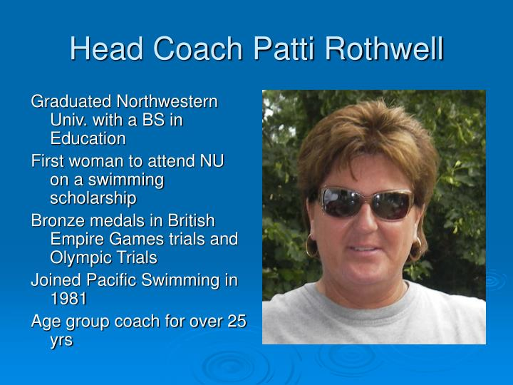 Head Coach Patti Rothwell
