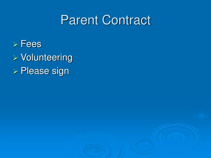 Parent Contract